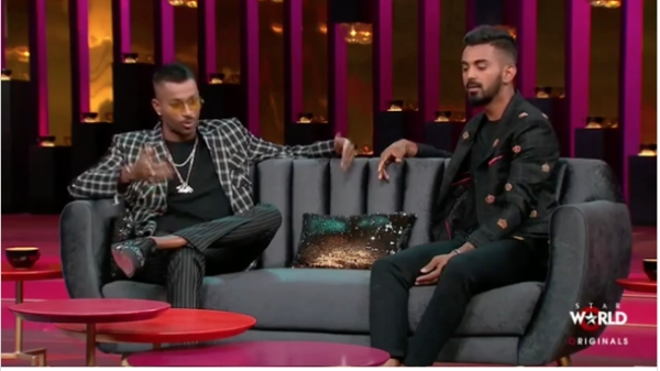 KL Rahul and Hardik Pandya on the episode of Koffee With Karan.