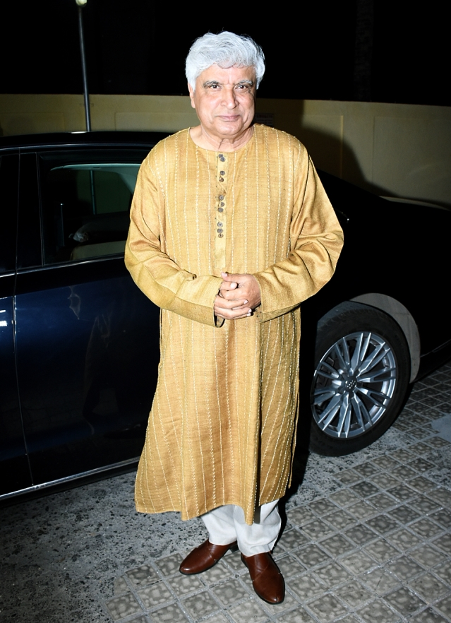 Javed Akhtar arrives for the show.