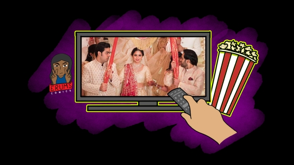 Erum's Comics: Ambani Wedding Thrill Over Netflix and Chill