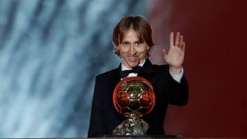 Luka Modric was announced as the winner of the prestigious prize in a glitzy ceremony held in Paris on Monday night.