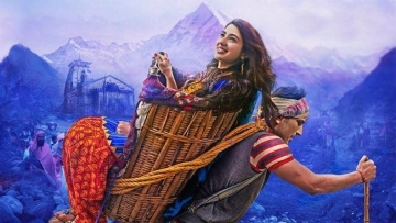 Sara Ali Khan and Sushant Singh Rajput co-star in <i>Kedarnath</i>.