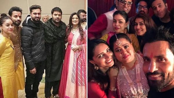 Kapil Sharma celebrates his sangeet with his friends.