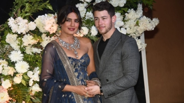 Nick Jonas and Priyanka Chopra at their first Mumbai reception