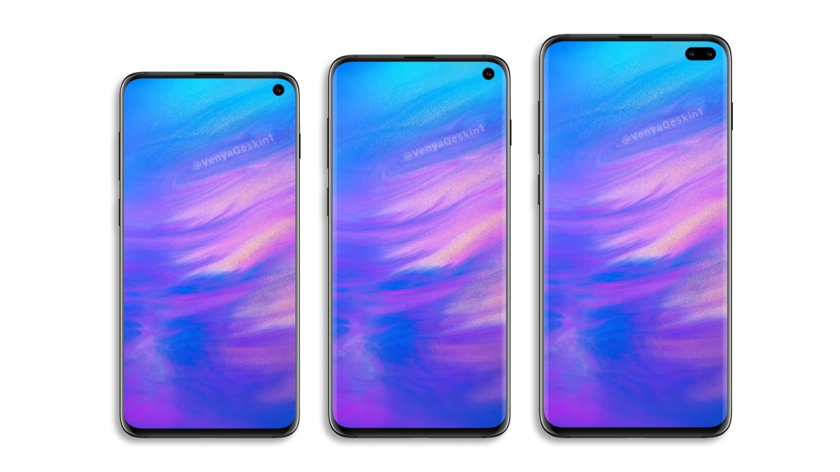 These renders suggest that Samsung will launch three Galaxy S phones in 2019.
