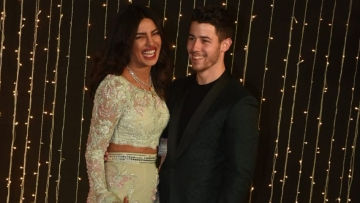 Priyanka and Nick at their Mumbai reception.