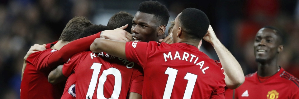 54cef517147 Manchester United s Paul Pogba celebrates scoring his side s first goal of  the game during the Premier