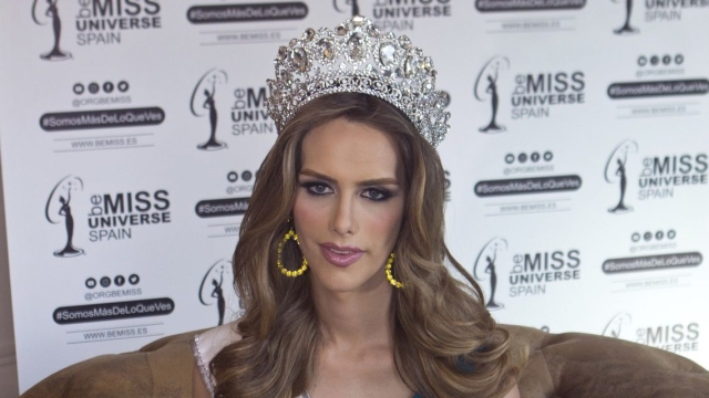 Angela Ponce represented Spain in the Miss Universe 2018 pageant.