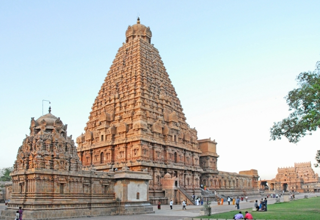 An enormous temporary structure has been set up in the 25 acre Brihadisvara temple, a UNESCO world heritage site, in Thanjavur district.