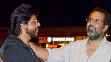 Shah Rukh Khan with his<i> Zero</i> director Aanand L Rai.