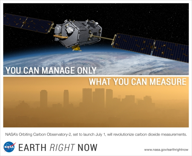 "An image from NASA captioned, ""you can manage only what you can measure."""