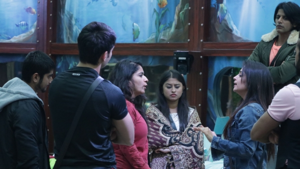 Contestants get into an argument in the Bigg Boss house.