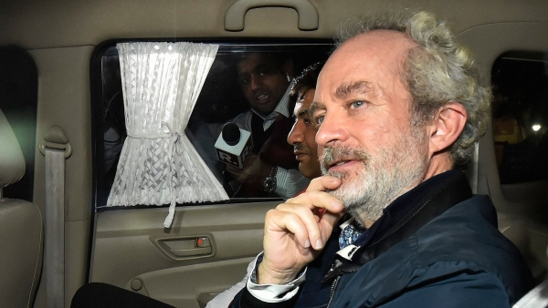 Christian James Michel, the alleged middleman extradited to India from UAE in connection with the AgustaWestland VVIP chopper scam.