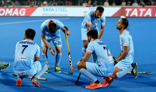 Indian players cut a dejected figure after exiting the 2018 FIH Men's World Cup with a 2-1 defeat to Netherlands in the quarter-final.