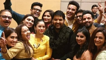 Comedian Kapil Sharma at his pre-wedding celebrations as he is set to tie with knot with Ginni Chatrath on 12 December, 2018.