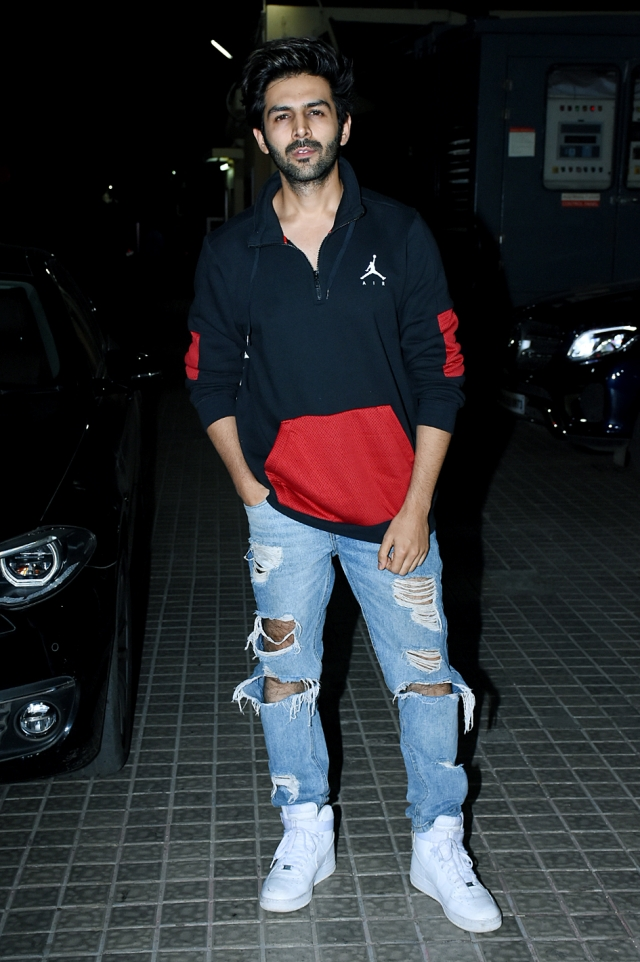 Kartik Aaryan at the screening.