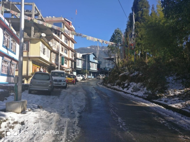 Even the town of Ravangla saw snow after more than 10 years.