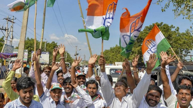 Congress beats BJP in MP, Chhattisgarh & Rajasthan elections ending the saffron party's dominance in the 'hindI heartland'