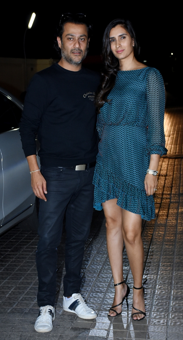 Director and co-producer of <i>Kedarnath</i>, Abhishek and Pragya Kapoor.
