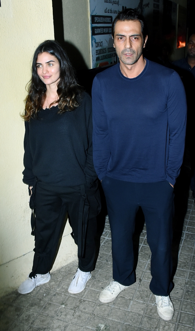 Arjun Rampal with girlfriend Gabriella Demetriades.