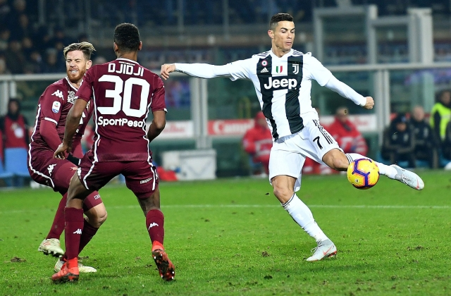 Cristiano Ronaldo is the second-highest goal-scorer in the Italian Serie A, with 11 goals so far in his maiden season at Juventus.