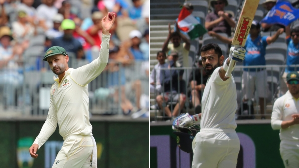 Nathan Lyon picked up 5/67, while Virat Kohli reached his 25th Test hundred, on Day 3 of the Perth Test between Australia and India.