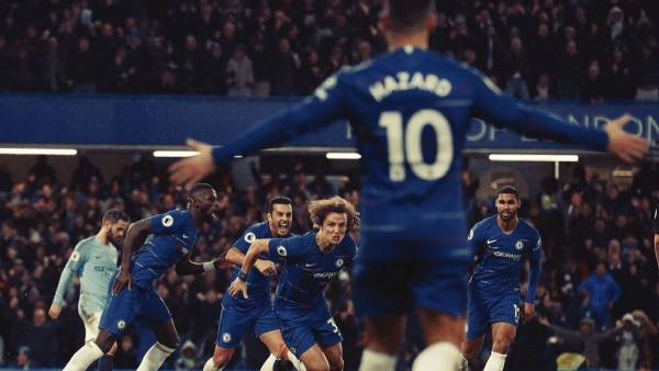 Chelsea ended Manchester City's unbeaten start to the Premier League season with a 2-0 win at Stamford Bridge.
