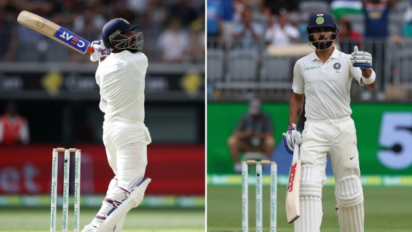 50s from Ajinkya Rahane and Virat Kohli drove India to 172/3 on Day 2 of their second Test vs Australia at Perth.