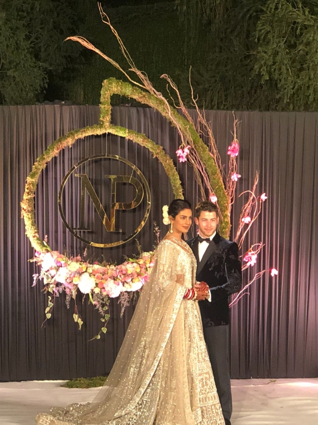 The newly weds at their Delhi wedding reception.