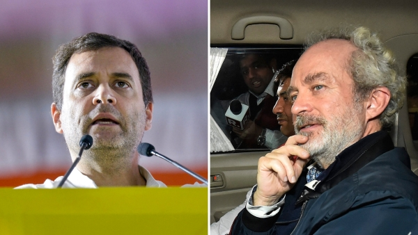 Rahul Gandhi and Christian Michel.
