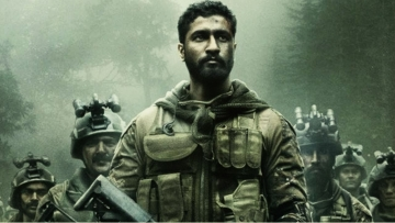 Vicky Kaushal in a still from <i>Uri</i>.