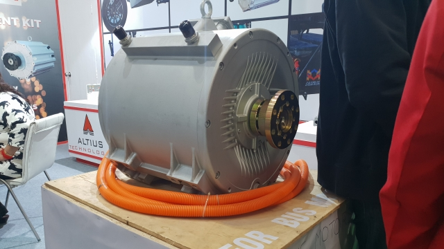 This is an electric motor Altis Technologies has made for a bus.