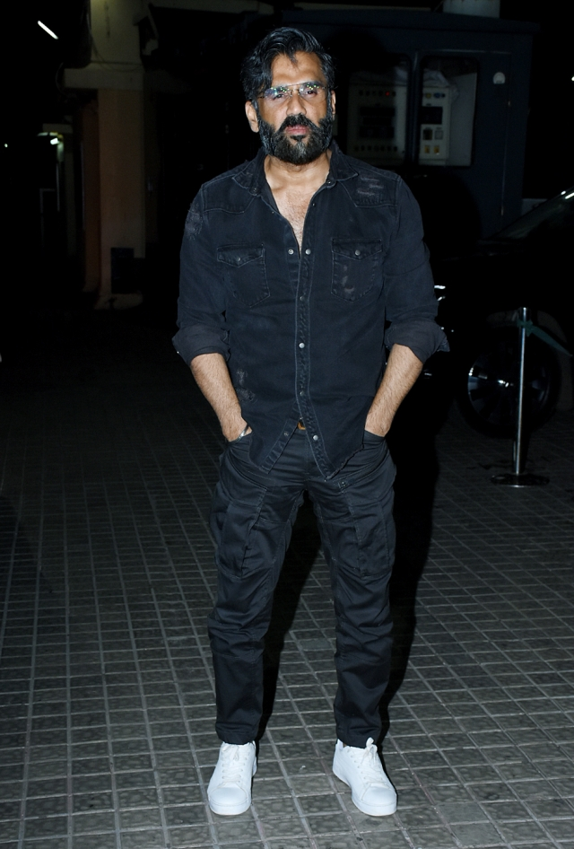 Suniel Shetty spotted at the venue.