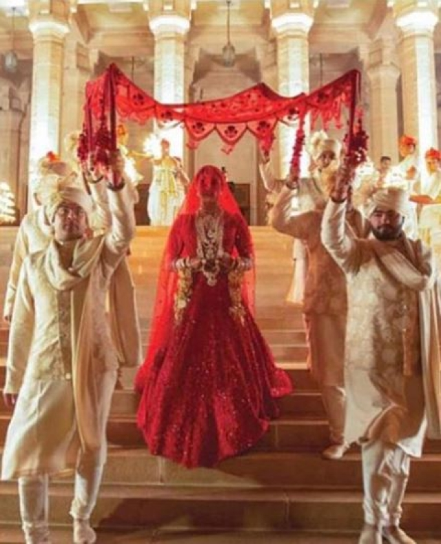 PeeCee tied the knot in a traditional Hindu ceremony at Umaid Bhawan Palace in Jodhpur.