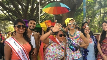The LGBTQ community held the Pride parade in Bengaluru on Sunday, 9 December.