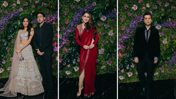 Janhvi Kapoor, Sara Ali Khan and Karan Johar were in attendance at Dinesh Vijan's reception.