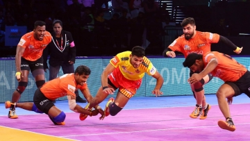 A defensive masterclass helped U Mumba break their duck against Gujarat Fortune Giants.