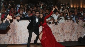 Ranveer and Deepika had a blast with the media.