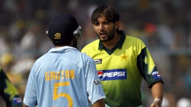 Gautam Gambhir and Shahid Afridi were involved in a heated – and fabled – altercation during an India-Pakistan ODI at Kanpur in 2007.