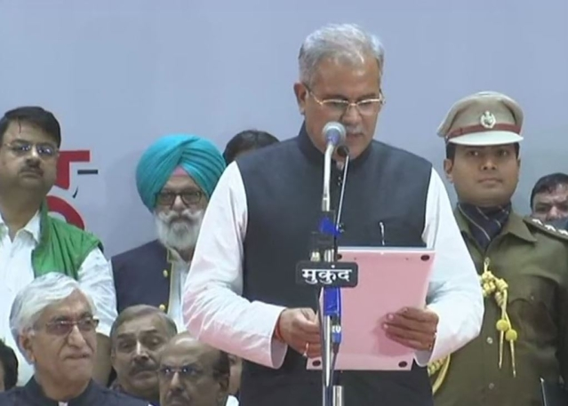 Bhupesh Baghel sworn in as the new chief minister of Chhattisgarh