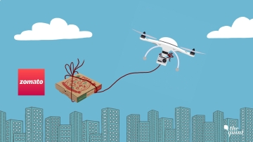Zomato is keen to push for delivery of food via drone in India.