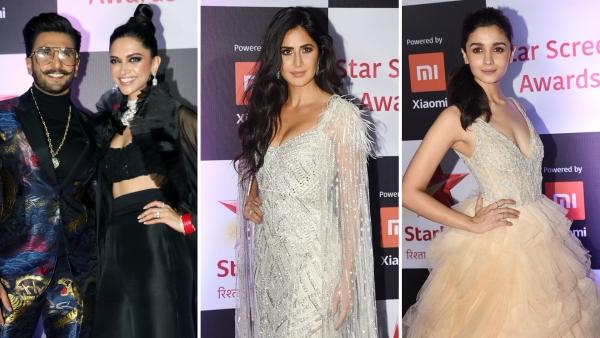 Ranveer Singh & Deepika Padukone / Katrina Kaif / Alia Bhatt at the 2018 Star Screen Awards.