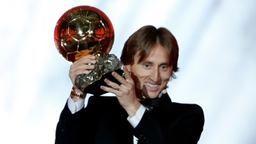 Real Madrid midfielder Luka Modric won the Ballon d'Or award for the first time on Monday, 3 December.