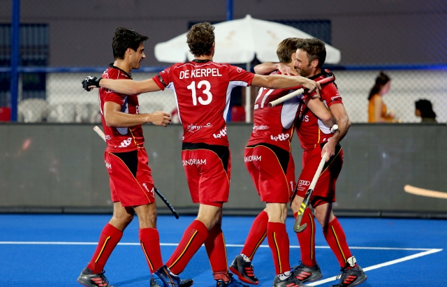 Belgium beat England 6-0 in the men's hockey World Cup semis.