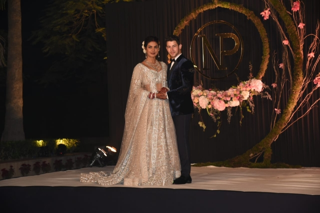 Priyanka Chopra & Nick Jonas at their reception in Delhi.