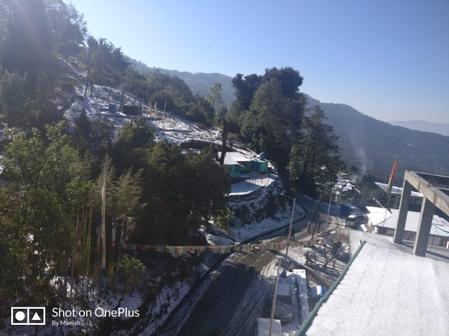 Locals feel with this snow, the tourist activities will further increase in the town,  Kewzing Road Ravangla