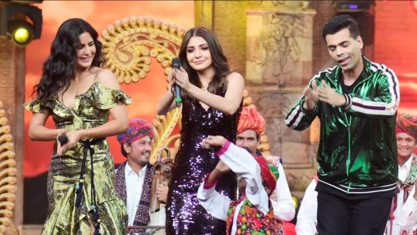Katrina and Anushka with Karan on India's Got Talent.