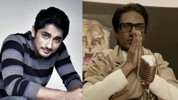 Siddharth calls out the biopic for glorifying Bal Thackeray's hate speech against South Indians.