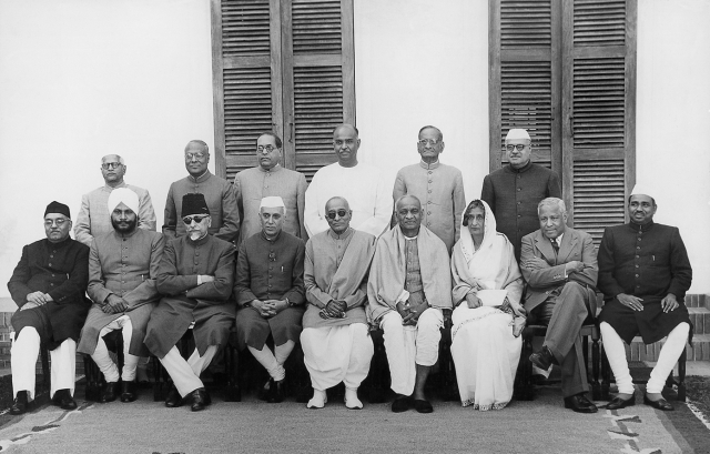 Nehru's Cabinet after the swearing in of Chakravarti Rajagopalachari as Governor-General. Delhi,1948