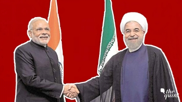 File image of Prime Minister NarendraModi and Iranian President Hassan Rouhani.