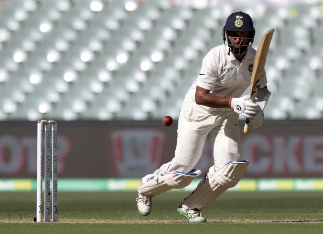 Pujara's 246-ball 123 was only his second hundred in 37 innings outside Asia since the start of 2014.